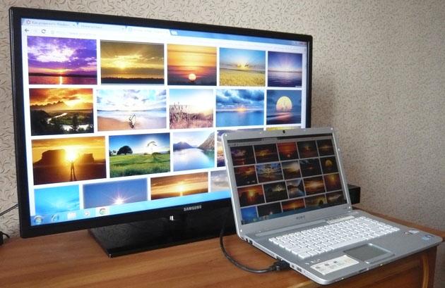 Соединить телевизор и компьютер